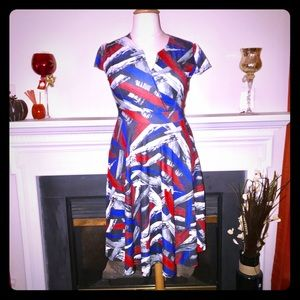 Burst-a-color Paint Strokes Dress